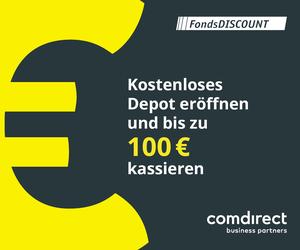 comdirect LP Aktion banner (bis zu 100€ kassieren)